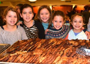 girls with lots of latkes