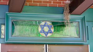 Jewish Star Stained Glass Window