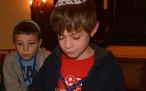boy reading torah