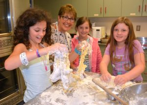 Religious School Students Making Challah