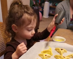 Child Making Hamentaschen