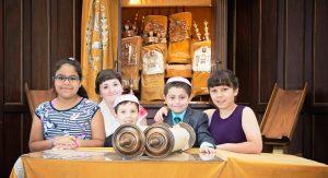 Children reading Torah on the Bimah