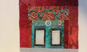 Quilt Square of Temple Israel entrance
