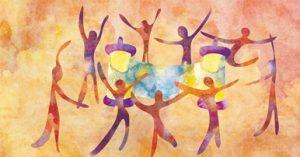 People Dancing with Torah Scroll