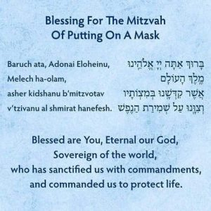 Blessing for the Mitzvah of Putting on a mask