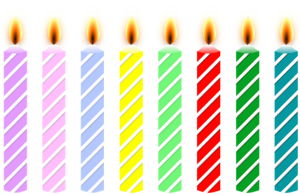 8 candles