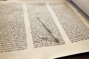 Torah with pointer