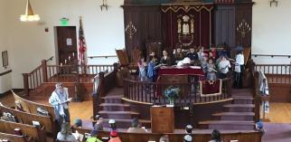 Religious school in sanctuary