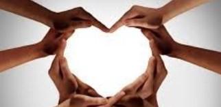 hands make a heart shape