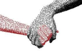 hands made of words