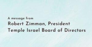 A Message from Robert Zimman, President